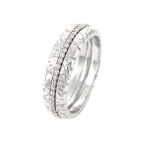 Diamond Pave Band in White Gold