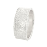 River Washed Textured Band in White Gold