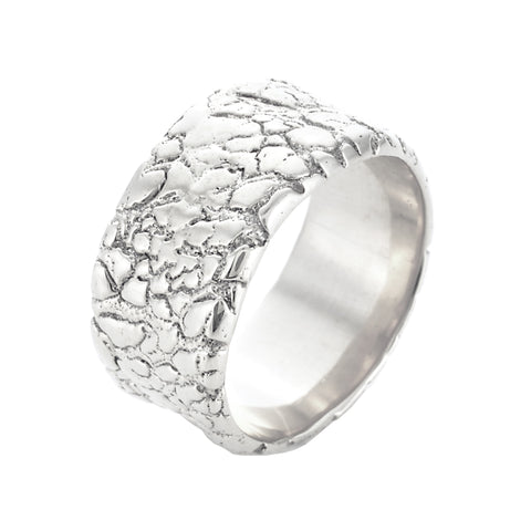 Hot Lava Band in White Gold