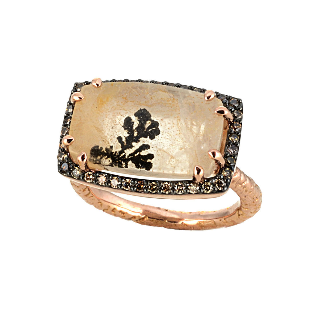 Dendritic Rose Gold Ring