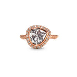 Solitaire Pear-Shaped Diamond Ring in Rose Gold