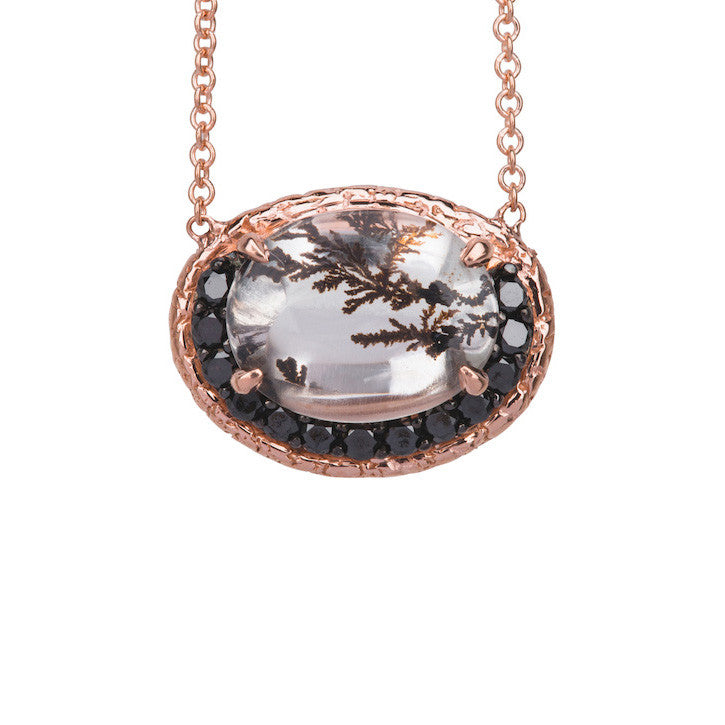 Rose Gold Dendritic Necklace