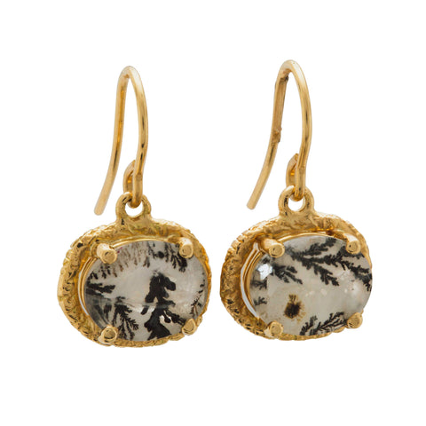 Yellow Gold Dendritic Earrings