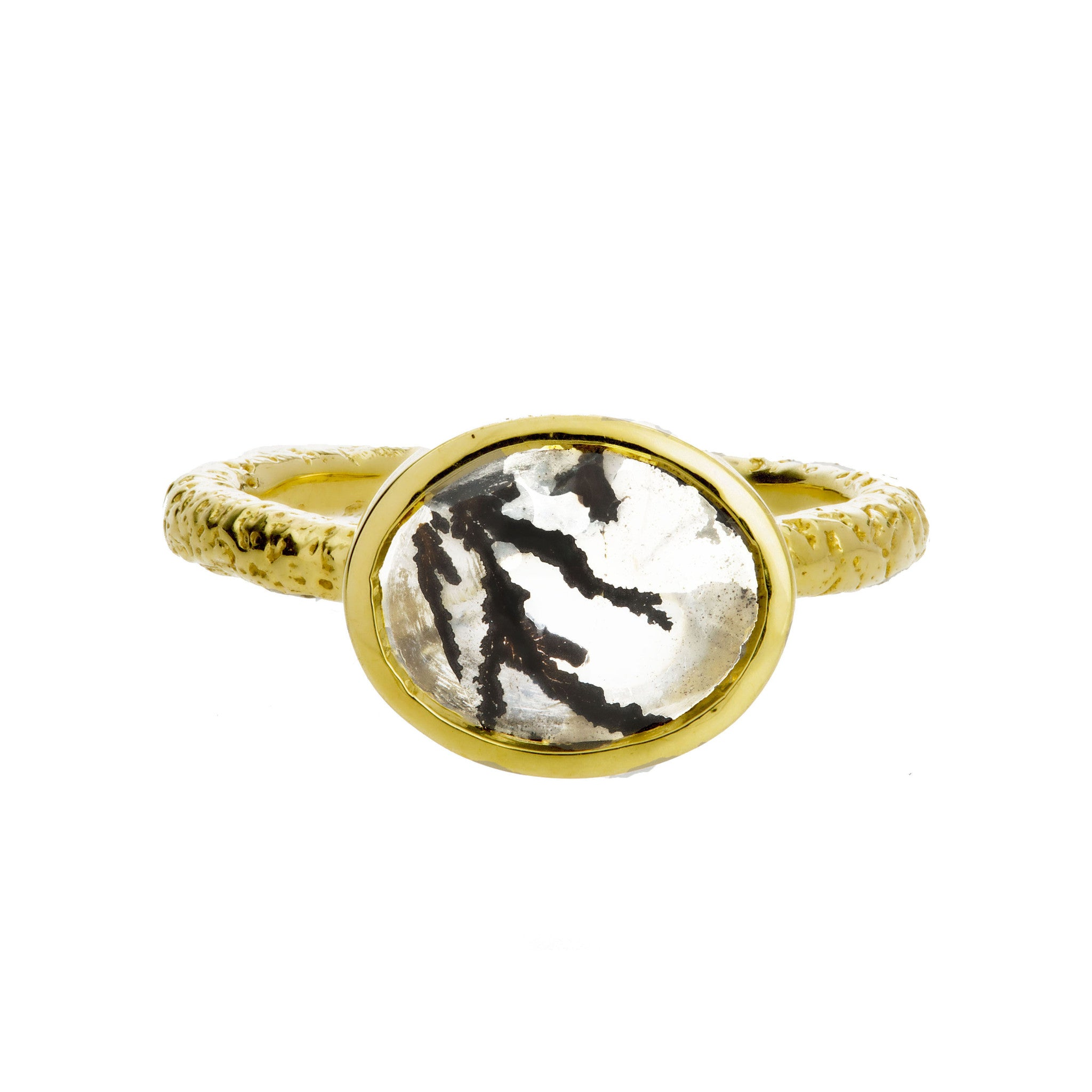 Yellow Gold Dendritic Ring