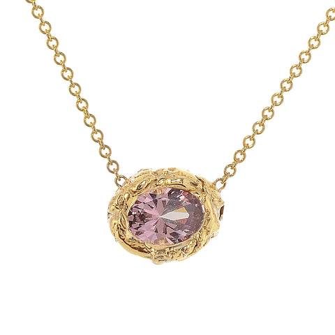Rose Pink Mahenge Garnet Necklace