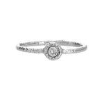 White Gold White Diamond Stacking Ring