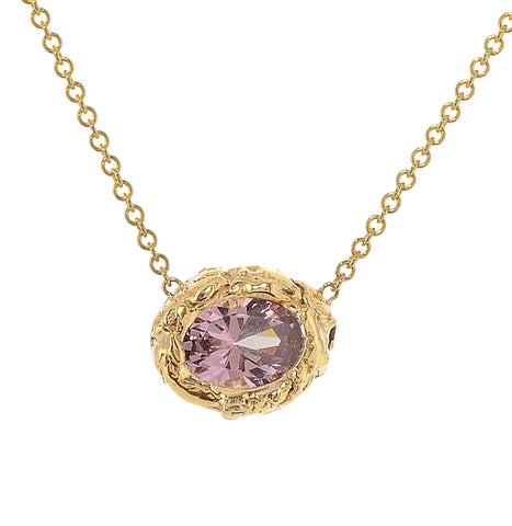 Lilac Garnet Necklace