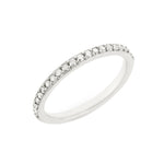 White Gold Half Eternity Band