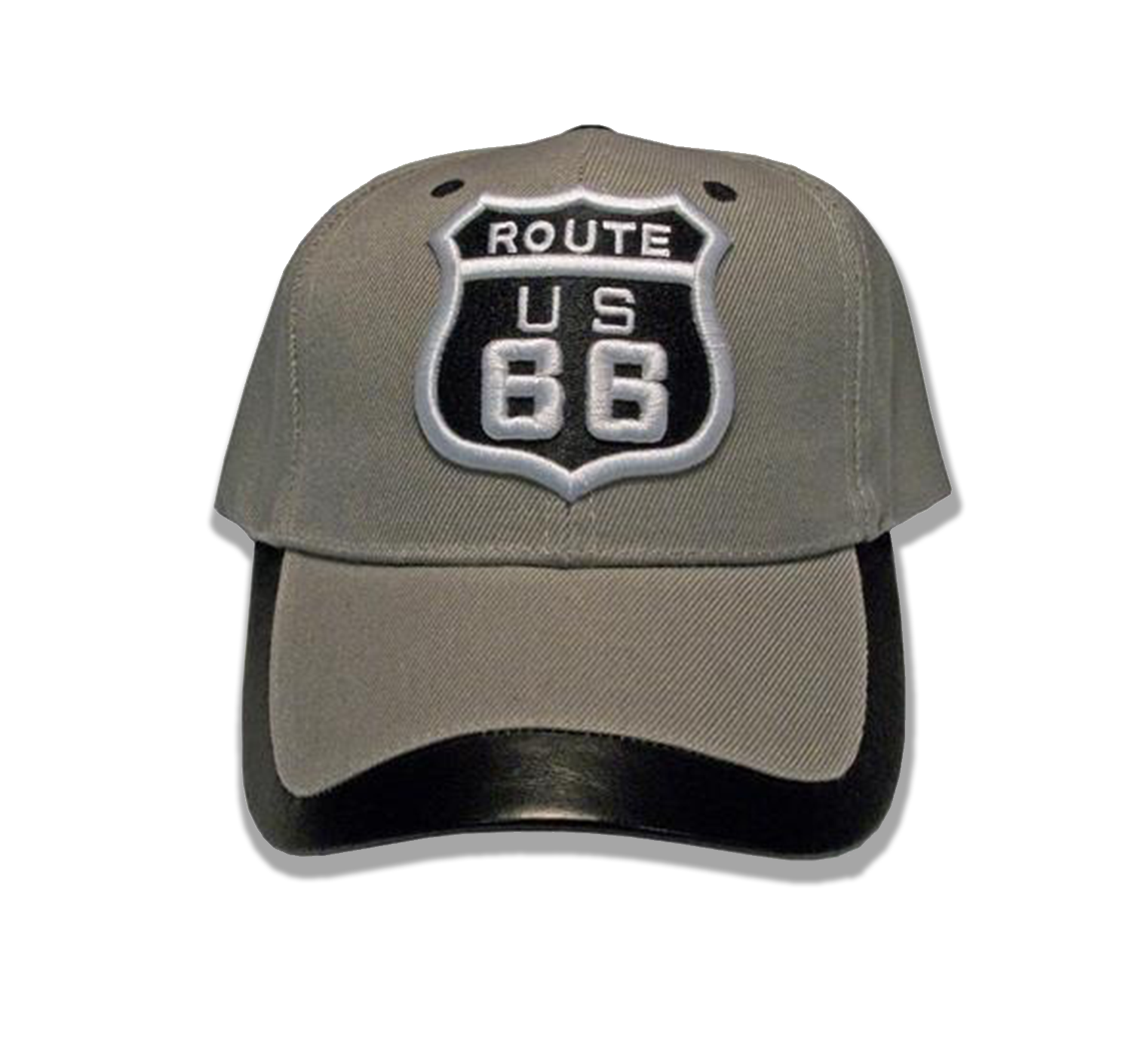 Route 66 Leather Trimmed Cap
