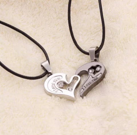 """I Love You"" Heart Pendant Necklace"