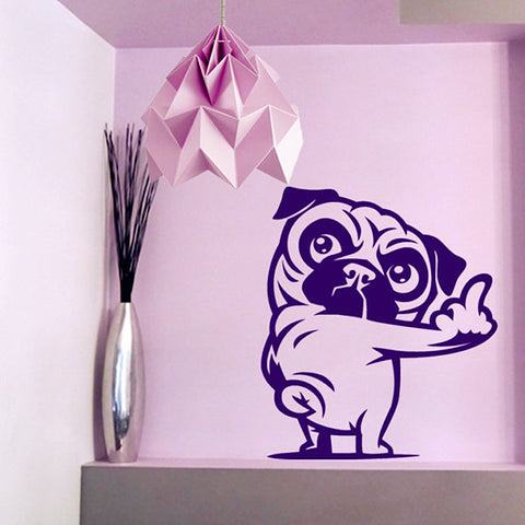 3D Pug Dog Wall Stickers