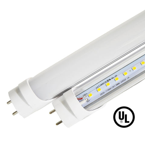 4ft 18W VersaT8 LED Tube   6000K Clear   Ballast Compatible Or Bypass   (UL
