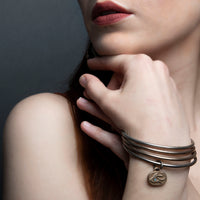 Bangle (Mystic Bronze) with Pendant
