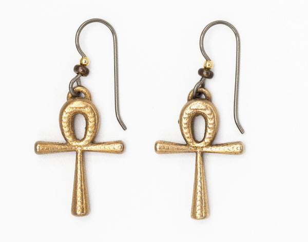 Small Ankh Earrings