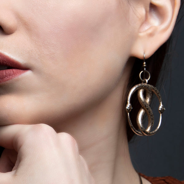 Double Ouroboros Earrings