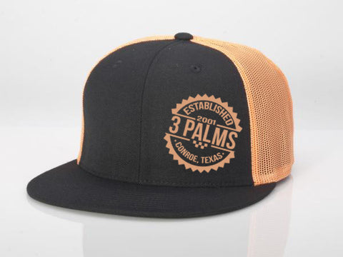 Flat Bill Snap Back 3 Palms Established Hat