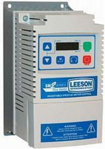 174606.00, Leeson, 1/3 HP, 208-230V, 1PH, 3PH,NEMA 1, SM2, DRIVE FRÉQUENCY, - FRÉQUENCY VARIABLE VECTOR DRIVE - LEESON - electric motors - [product_tags]- motor electric - moteur électrique - moteurs - drive - replacement - venmar - hvac - méchoui - capacitor - condensateur
