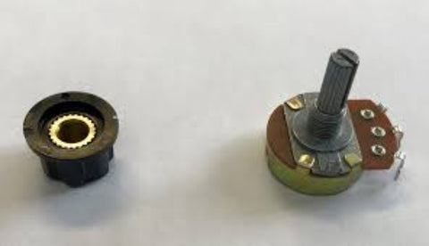 POTENTIOMETER 10K, WITH KNOB 19.6MM, 60376 - ACCESSORIES MOTORS & PARTS - E-Motor Nations - electric motors - [product_tags]- motor electric - moteur électrique - moteurs - drive - replacement - venmar - hvac - méchoui - capacitor - condensateur