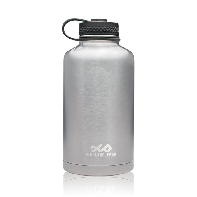 64 oz Stainless Steel Insulated Water Bottle and Beer Growler (Silver)