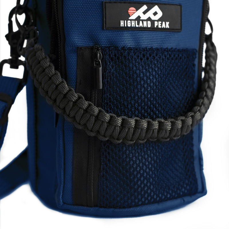 64 oz Sleeve / Pouch with Paracord Survival Carrying Handle (Blue)