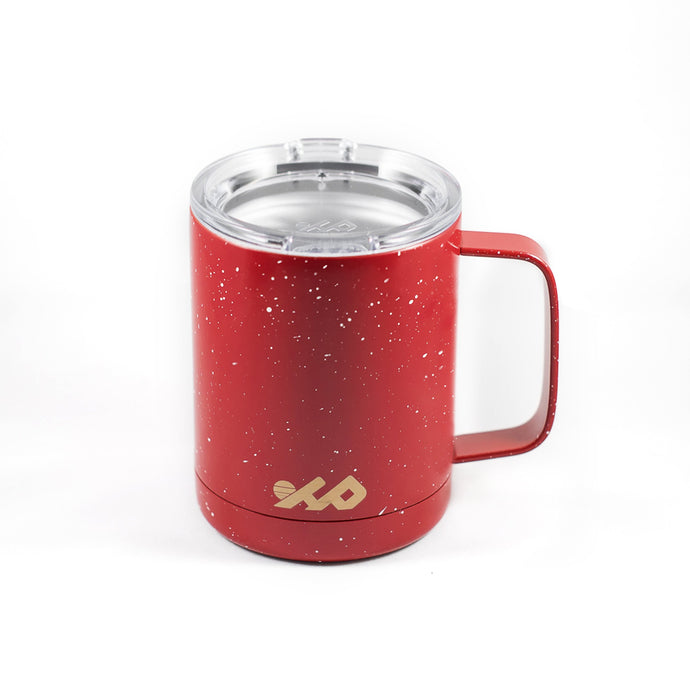 12 oz Insulated Camping Mug (Vintage Red)