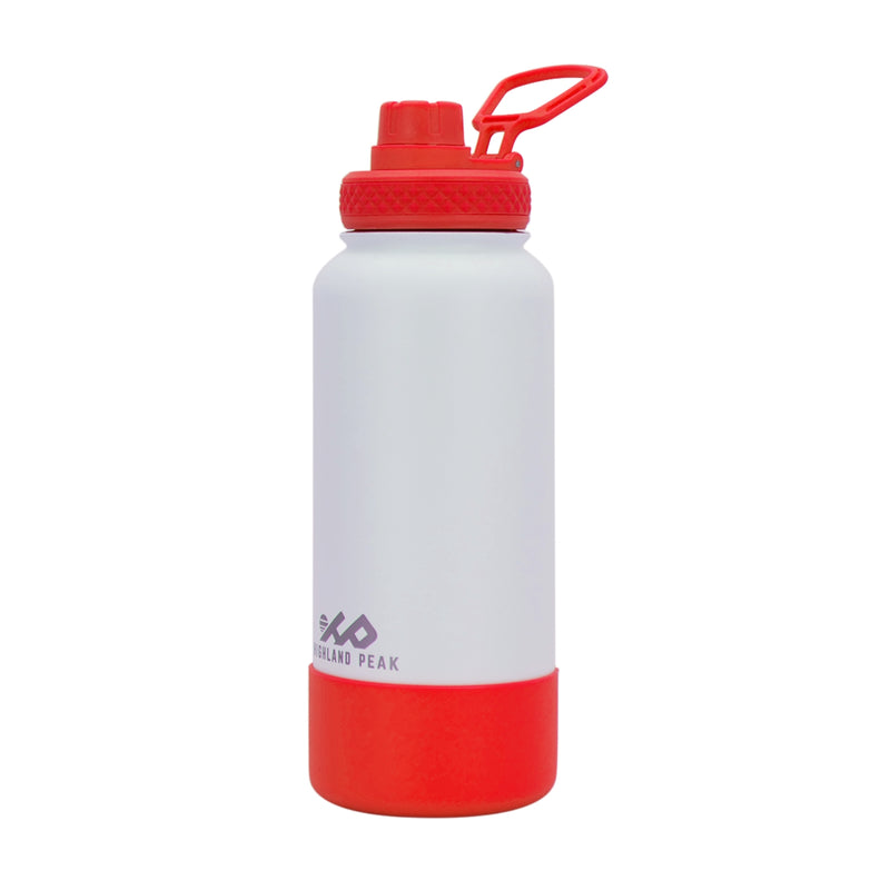 32 oz Bottle - Premium - White/Red