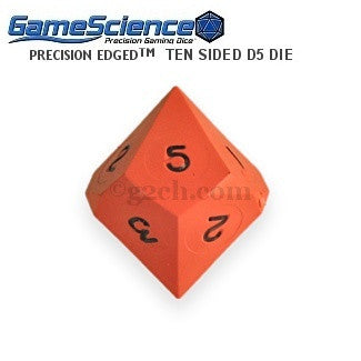 D5 (10 Sided) Opaque Hot Orange Gamescience Die