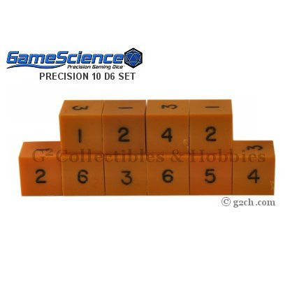 Gamescience Precision D6 Dice Set Opaque Orange 10pc