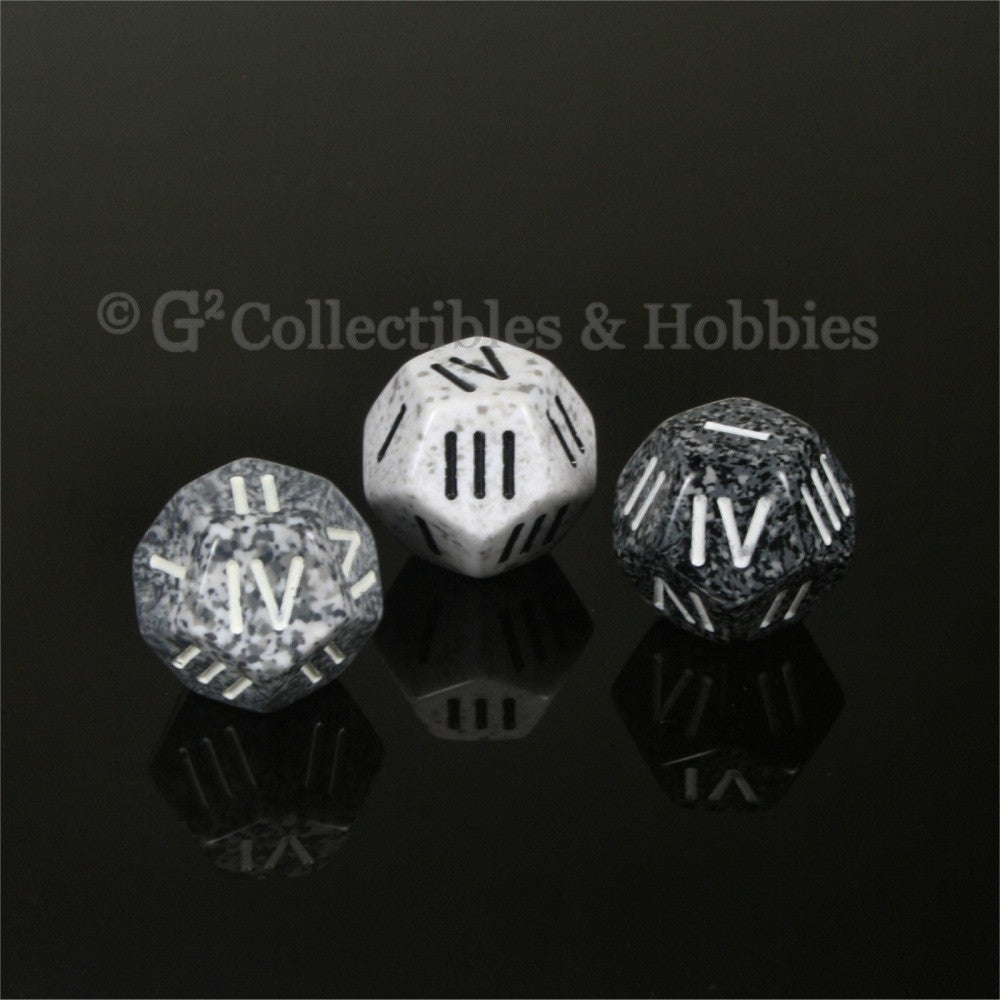 12 Sided Roman Numeral D4 - Set of 3