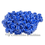 D6 16mm Opaque Blue with White Pips 200pc Bulk Set