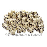 D6 16mm Opaque Ivory with Black Pips 200pc Bulk Set