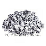 D6 16mm Opaque White with Black Pips 200pc Bulk Set