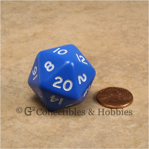 D20 Jumbo 30mm Opaque Blue