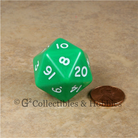 D20 Jumbo 30mm Opaque Green