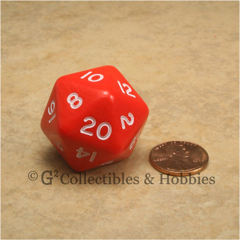 D20 Jumbo 30mm Opaque Red