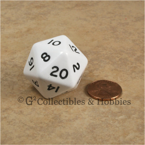 D20 Jumbo 30mm Opaque White