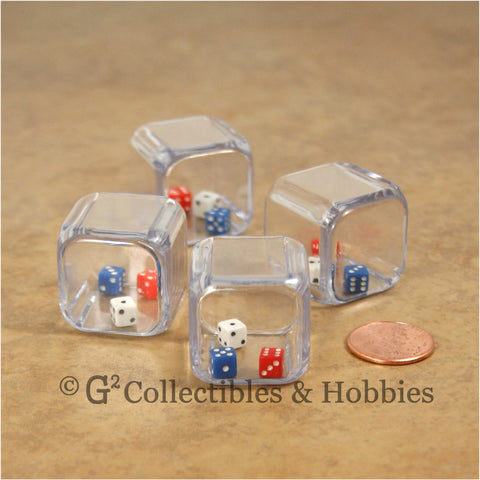 D6 25mm Triple 4pc Dice Set - 3 in a cube