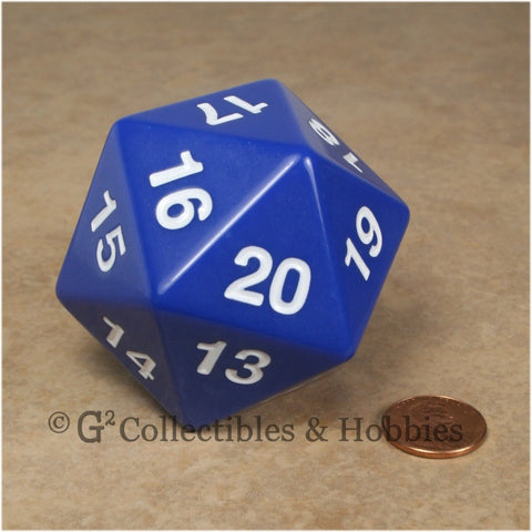 D20 Giant 55mm Opaque Blue