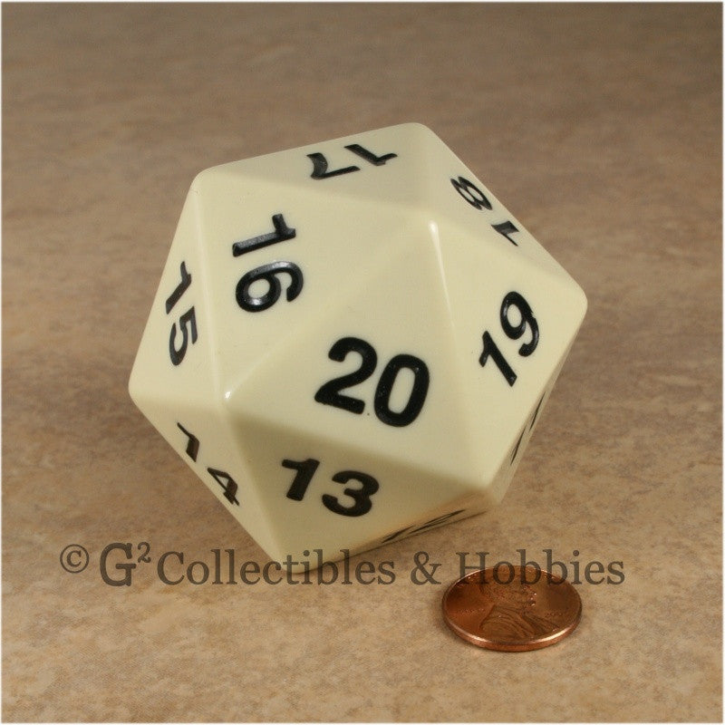 D20 Giant 55mm Opaque Ivory