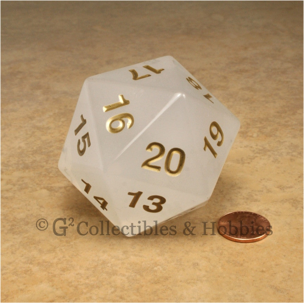 D20 Giant 55mm Pearl White