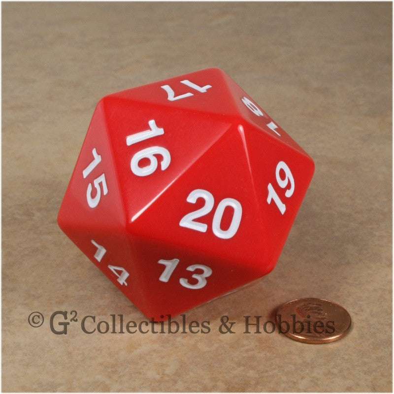 D20 Giant 55mm Opaque Red