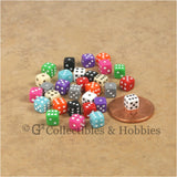 D6 5mm Deluxe Rounded Edge Opaque 30pc Dice Set - 10 Colors