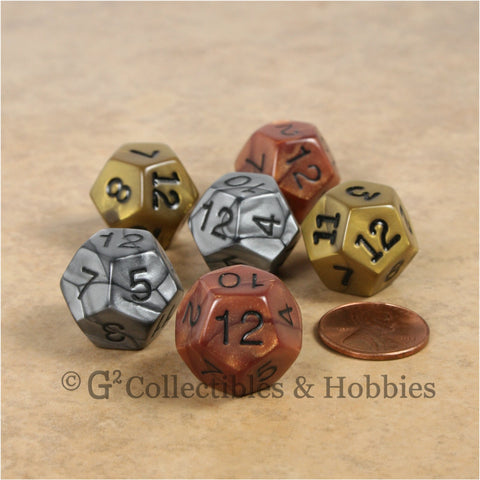 D12 RPG Dice Set : Olympic 6pc