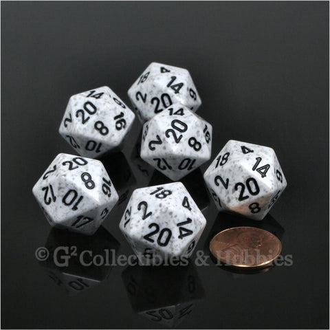 D20 RPG Dice Set : Arctic Camo 6pc