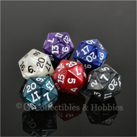 D20 RPG Dice Set : Pearlized 6pc