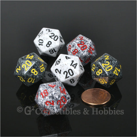 D20 RPG Dice Set : Specked 6pc