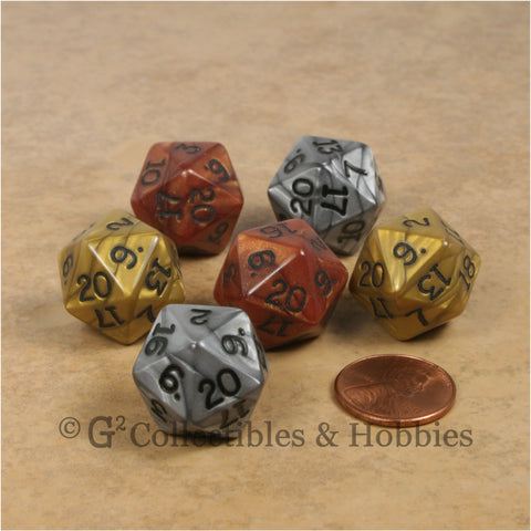 D20 RPG Dice Set : Olympic 6pc