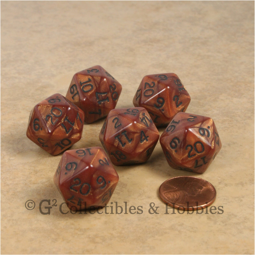 D20 RPG Dice Set : Olympic Bronze 6pc
