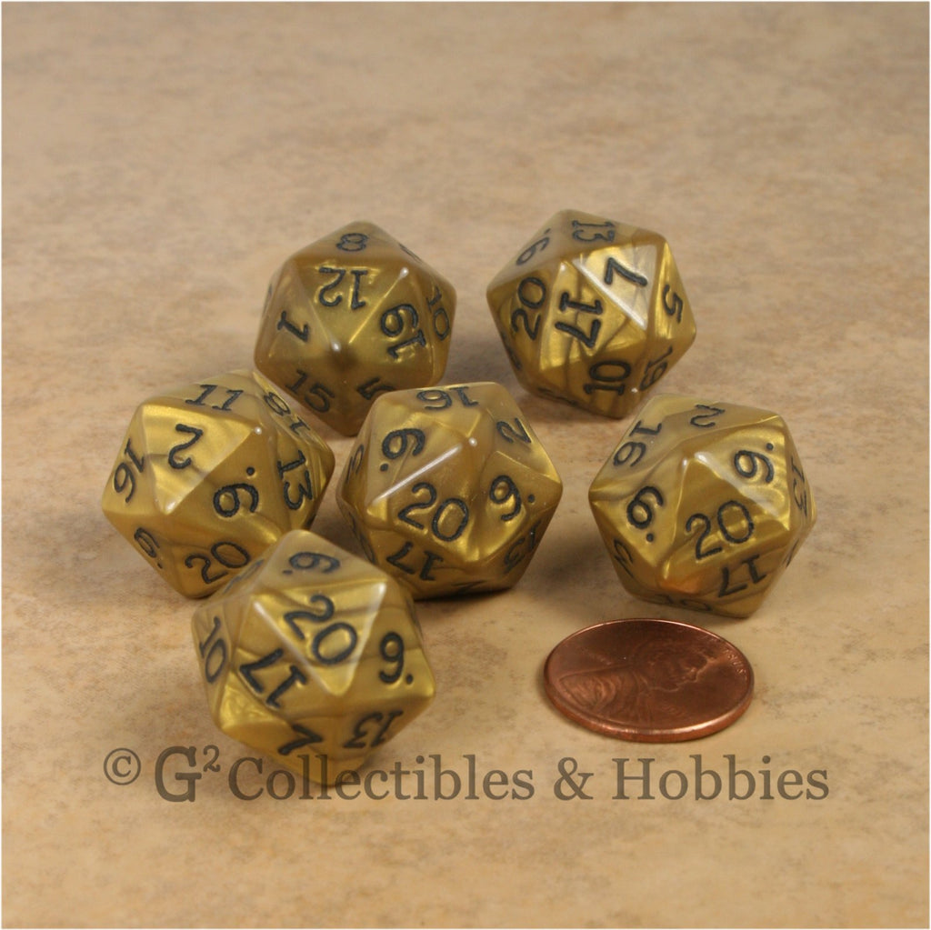 D20 RPG Dice Set : Olympic Gold 6pc