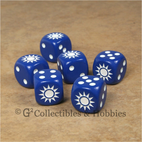 WWII Axis & Allies 6pc Dice Set - Chinese Kuomintang Star
